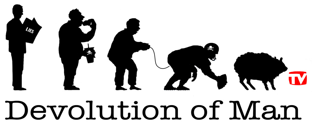 Devolution of Man t-shirt design, 2010 | Brian Reeves Works: www.slopart.com/brianreeves/home/devolutionofman